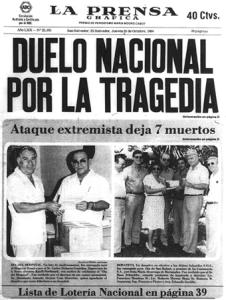 Portada de La Prensa Grafica 1984